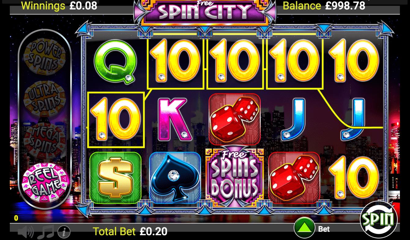 Free Spin City Slot Machine