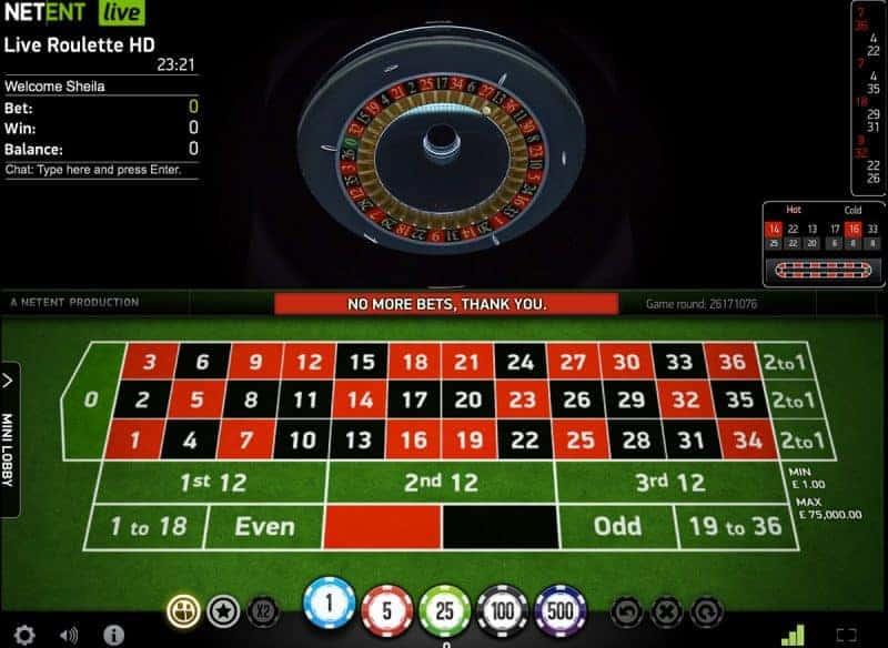 mobile live casino netent
