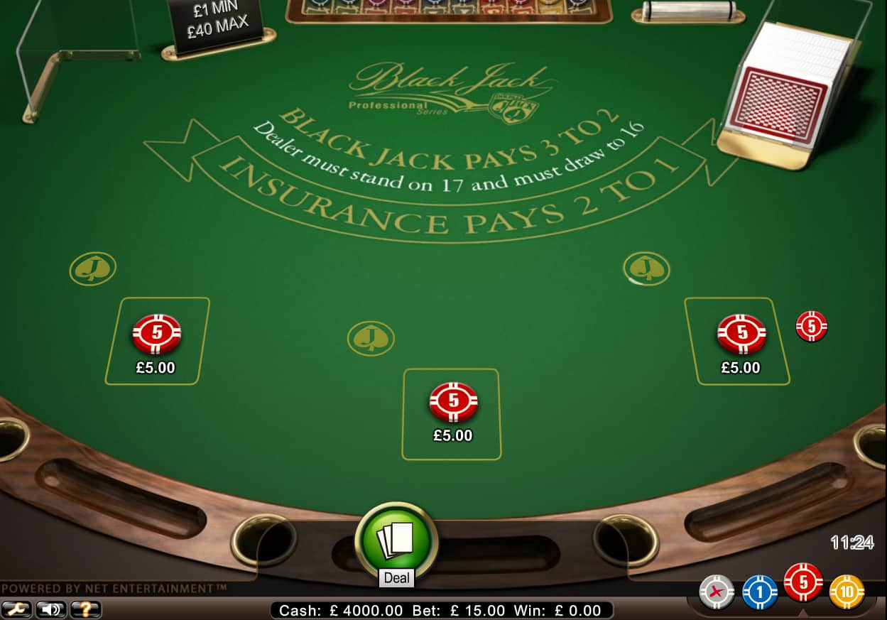 single deck blackjack professional series low limit casino